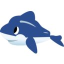 download Dolphin clipart image with 0 hue color