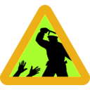 download Warning For Police Brutality clipart image with 45 hue color