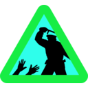 download Warning For Police Brutality clipart image with 135 hue color