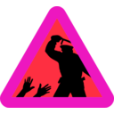 download Warning For Police Brutality clipart image with 315 hue color