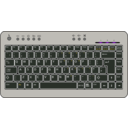 download Btc6100c Uk Compact Keyboard clipart image with 180 hue color