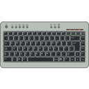 download Btc6100c Uk Compact Keyboard clipart image with 270 hue color
