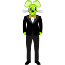 download Mouse In A Tuxedo clipart image with 45 hue color