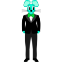 download Mouse In A Tuxedo clipart image with 135 hue color