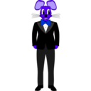 download Mouse In A Tuxedo clipart image with 225 hue color