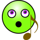download Singing Smiley Face clipart image with 45 hue color