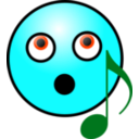 download Singing Smiley Face clipart image with 135 hue color