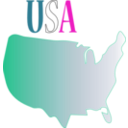 download Usa clipart image with 315 hue color