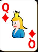 White Deck Queen Of Diamonds