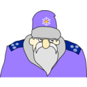 download Colonel Frost Russian Military Santa Claus clipart image with 45 hue color