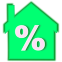 download Home Loan Interest Rate clipart image with 135 hue color