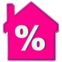 download Home Loan Interest Rate clipart image with 315 hue color