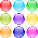 Glossy Circle Buttons