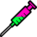 download Syringe Icon clipart image with 135 hue color