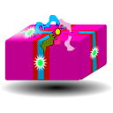 download Present Gift clipart image with 315 hue color