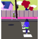 download Neighborhood Street clipart image with 225 hue color