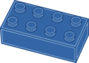 Blue Lego Brick