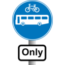 Roadsign Buses And Bikes