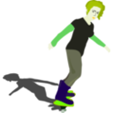 download Girl On Skateboard clipart image with 45 hue color
