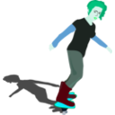 download Girl On Skateboard clipart image with 135 hue color