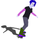 download Girl On Skateboard clipart image with 225 hue color