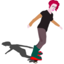 download Girl On Skateboard clipart image with 315 hue color