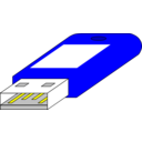 download Usb Key Pen Blue Connector Side clipart image with 0 hue color