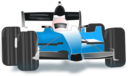 Race Car Blue