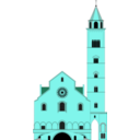 download Cattedrale Di Trani clipart image with 135 hue color