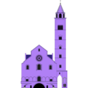 download Cattedrale Di Trani clipart image with 225 hue color