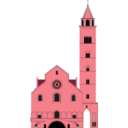 download Cattedrale Di Trani clipart image with 315 hue color