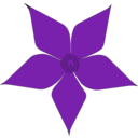 download Purple Flower clipart image with 315 hue color