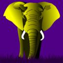 Elephant Yellow On Purple