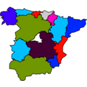 download Spanish Regions 01 clipart image with 315 hue color