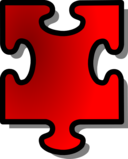 Red Jigsaw Piece 15