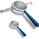 download Magnifying Glass clipart image with 180 hue color