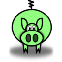 download Pig clipart image with 135 hue color