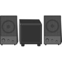 download Speakers clipart image with 180 hue color