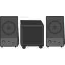 download Speakers clipart image with 0 hue color