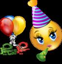 Party Girl Smiley Emoticon