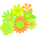 download Flower Cluster clipart image with 45 hue color