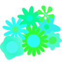 download Flower Cluster clipart image with 135 hue color