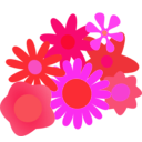 download Flower Cluster clipart image with 315 hue color