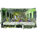 download Last Supper clipart image with 45 hue color