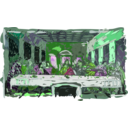 download Last Supper clipart image with 90 hue color