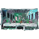 download Last Supper clipart image with 135 hue color