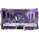 download Last Supper clipart image with 225 hue color