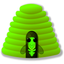 download Beehive clipart image with 45 hue color