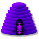 download Beehive clipart image with 225 hue color