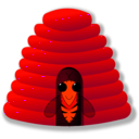 download Beehive clipart image with 315 hue color
